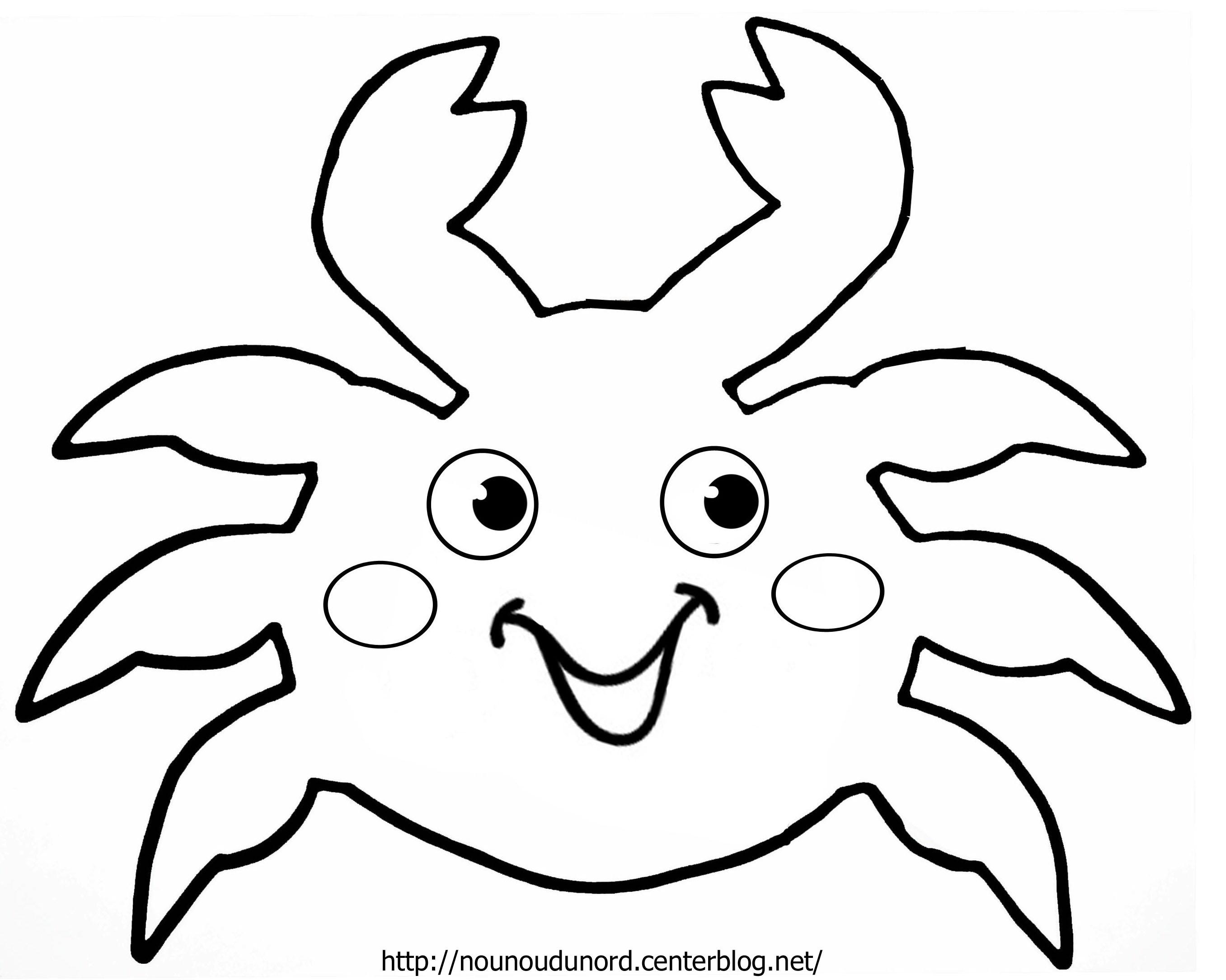 Crabe #5 (Animaux) – Coloriages À Imprimer pour Masque Canard À Imprimer