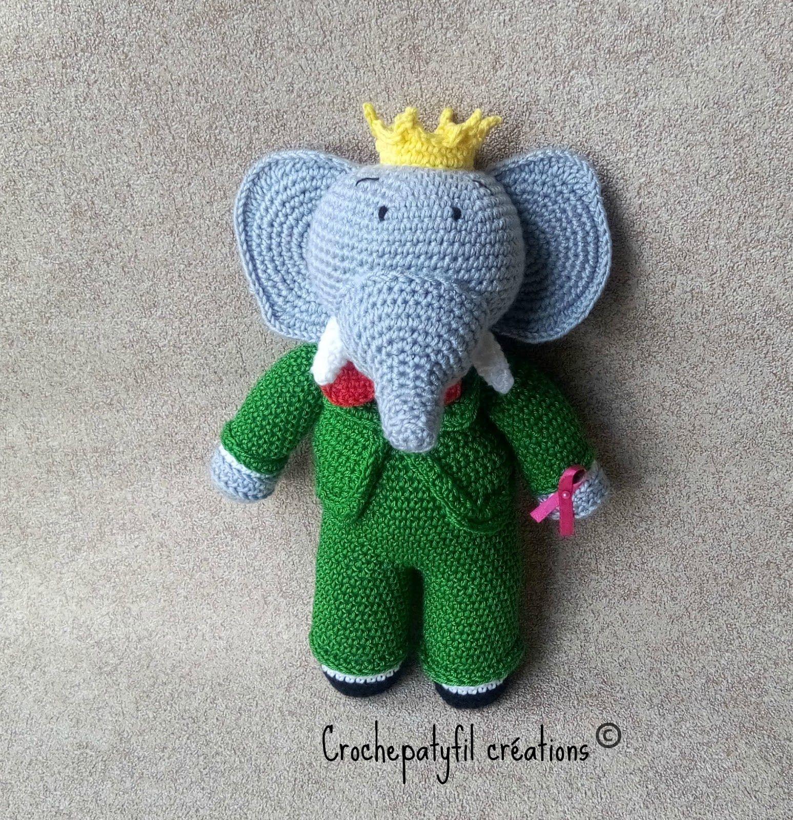 Crochet Babar | Tricot Et Crochet, Poupées En Crochet, Amigurumi destiné Singe De Babar