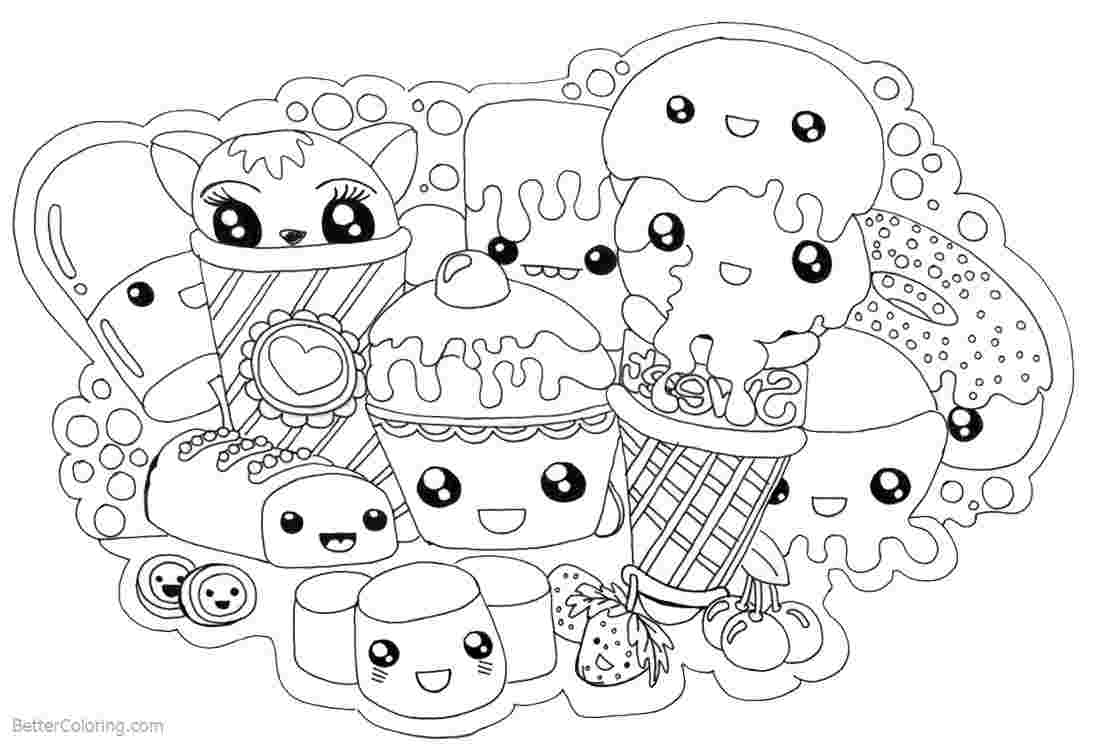 Cute Food Kawaii Sweet Cute Food Cute Coloring Pages destiné Coloriage Manga Kawaii