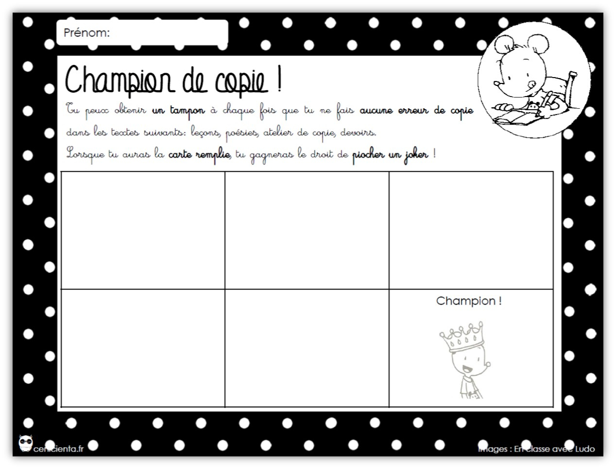 Cycle 2 / Cycle 3 • Français • Champion De Copie ~ serapportantà Lutin Bazar Poésie