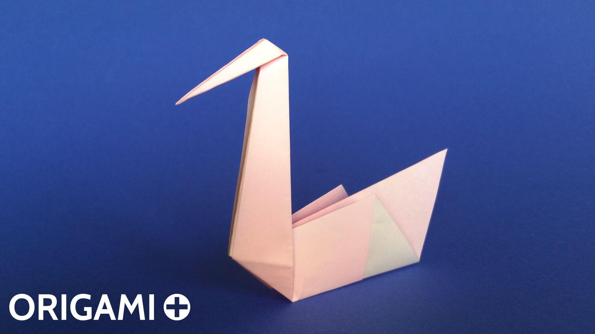 Cygne En Origami destiné Origami Canard