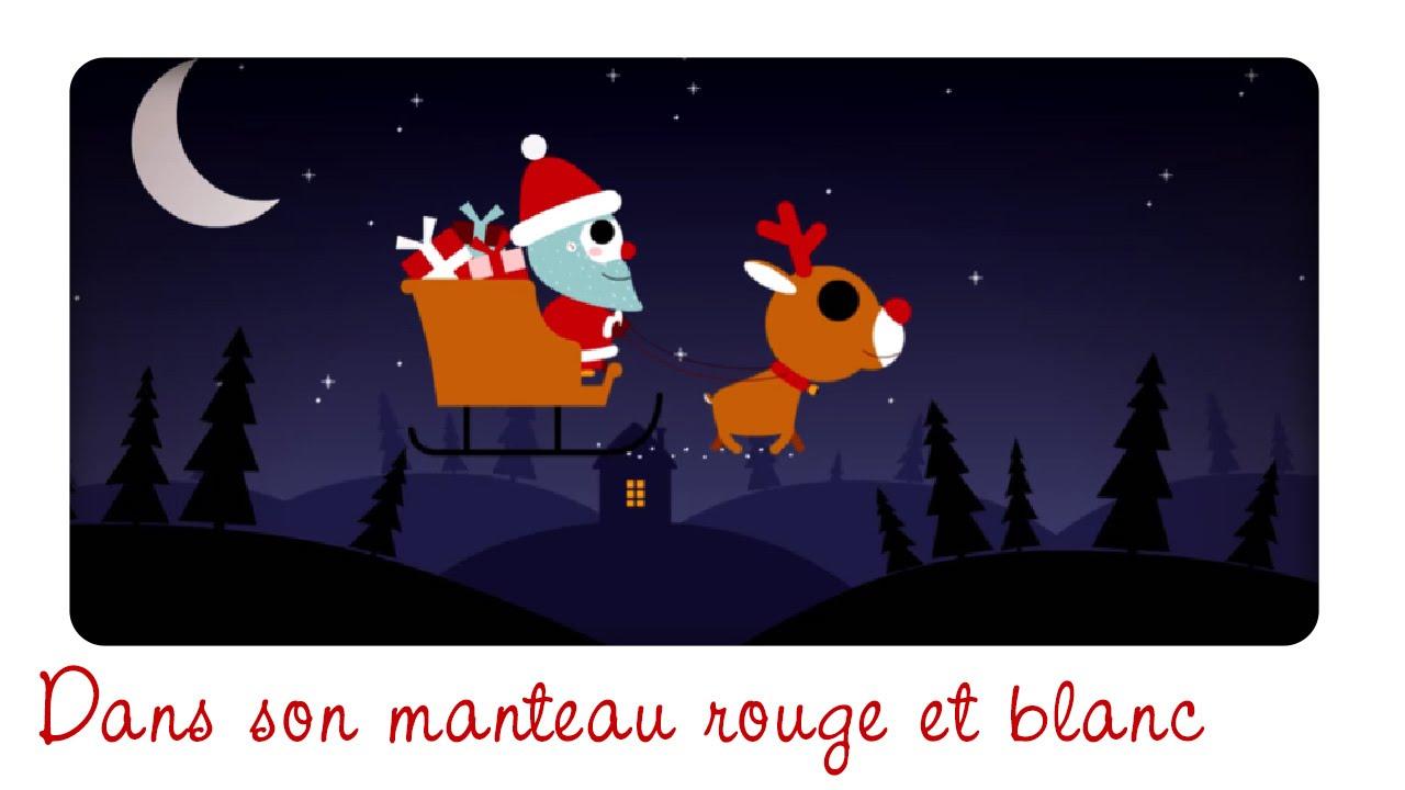 Dans Son Manteau Rouge Et Blanc (Petit Garçon) Berceuse, Comptine Et  Chanson De Noël concernant Chanson Dans Son Manteau Rouge Et Blanc