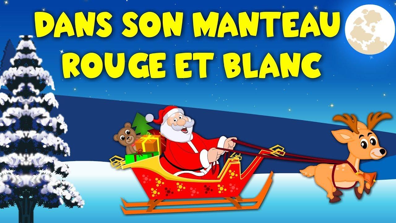 Dans Son Manteau Rouge Et Blanc - Petit Garçon - Chansons De Noël intérieur Chanson Dans Son Manteau Rouge Et Blanc