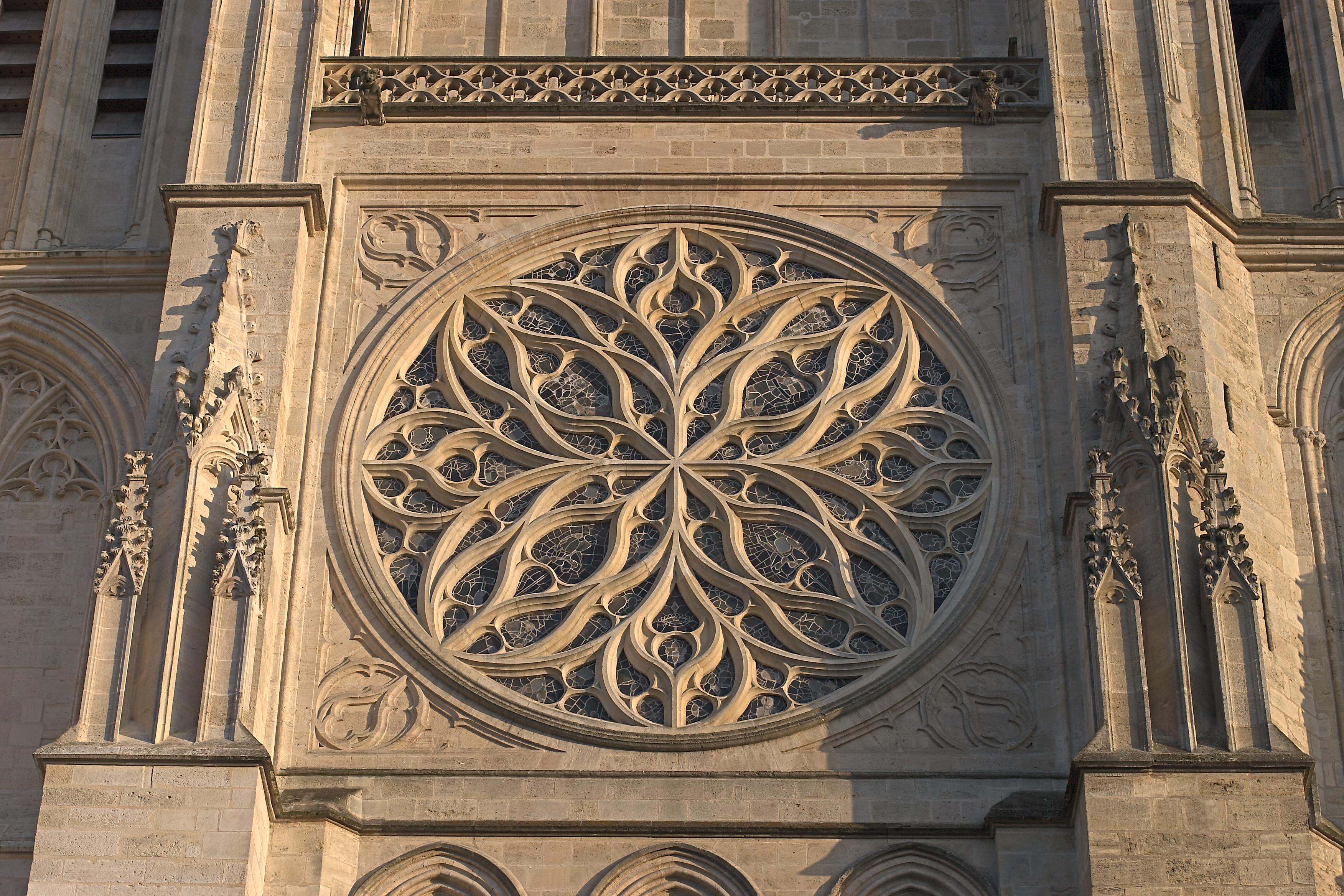 Datei:bordeaux Cathedrale St Andre Rosace – Wikipedia concernant Image De Rosace