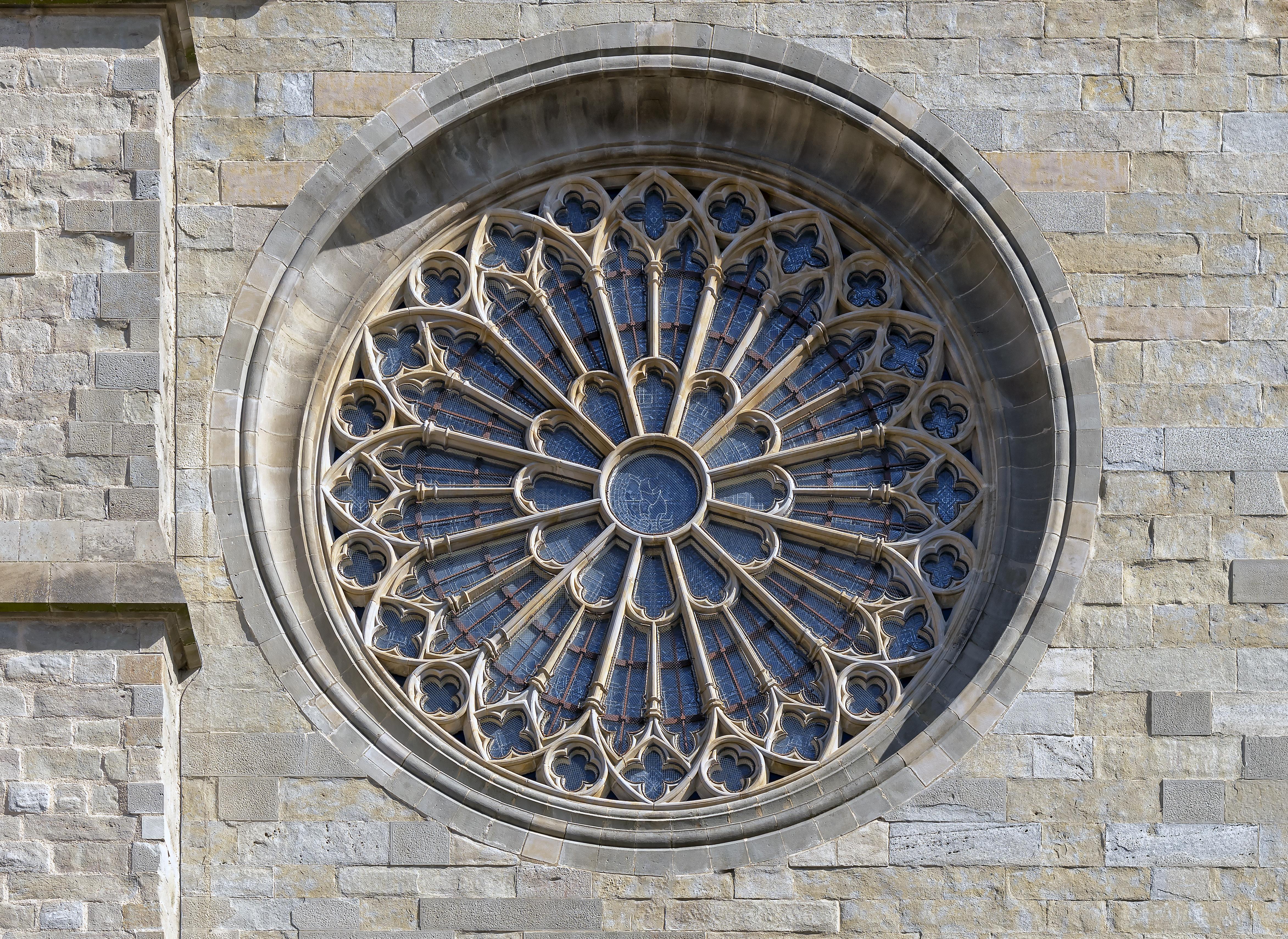 Datei:carcassonne - Cathédrale St-Michel - Rosace De La dedans Image De Rosace