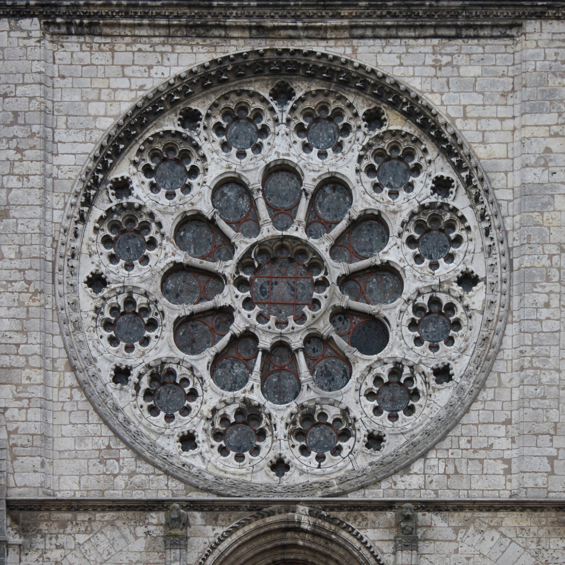 Datei:cathédrale De Chartres - Rosace Ouest, Extérieur serapportantà Image De Rosace