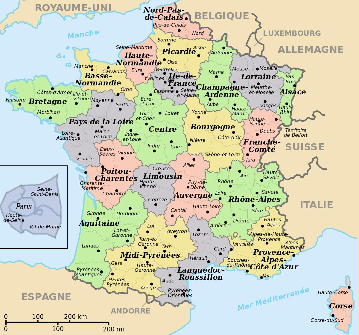 Datei:départements+Régions (France).svg – Wikipedia tout Nouvelle Carte Des Régions De France