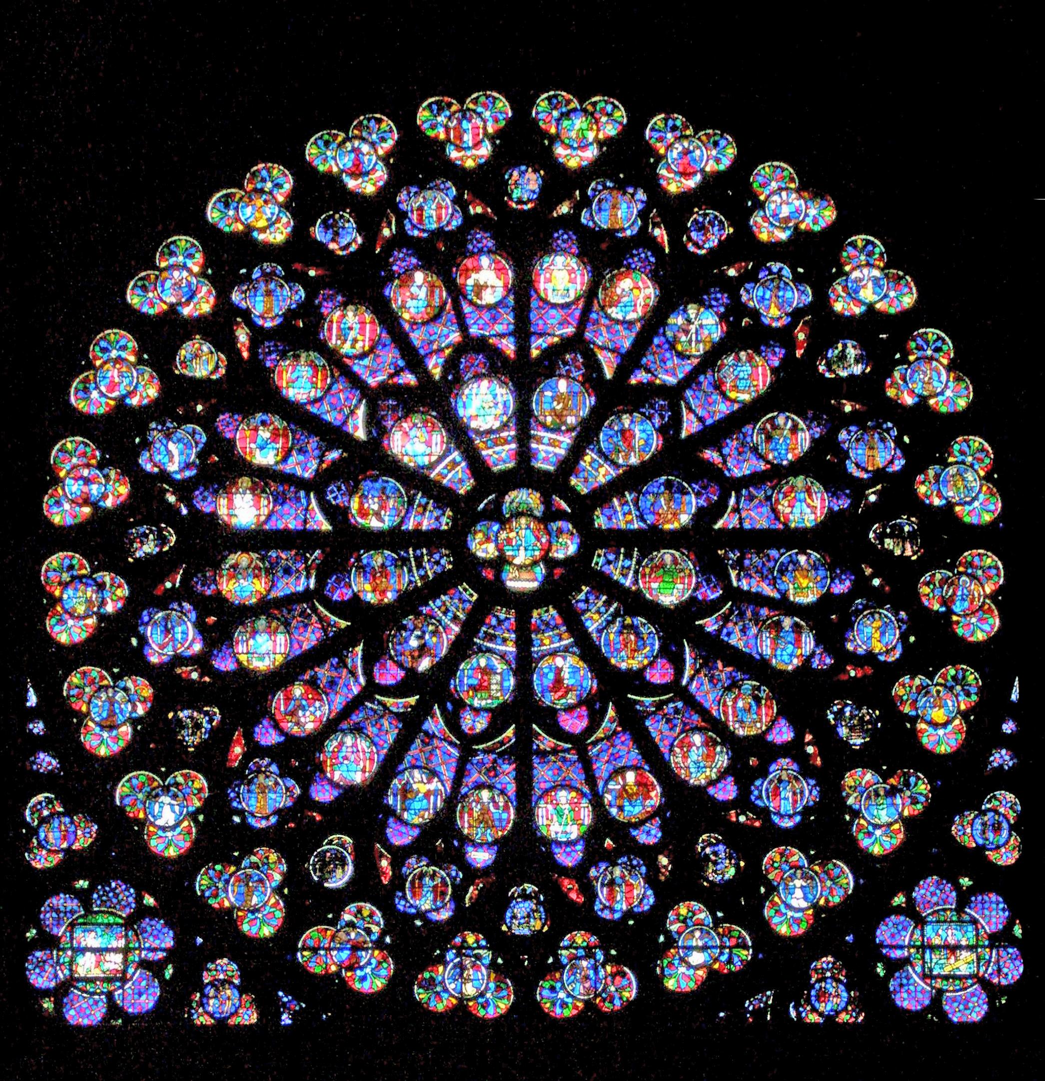 Datei:notre-Dame-De-Paris - Rosace Sud – Wikipedia serapportantà Image De Rosace