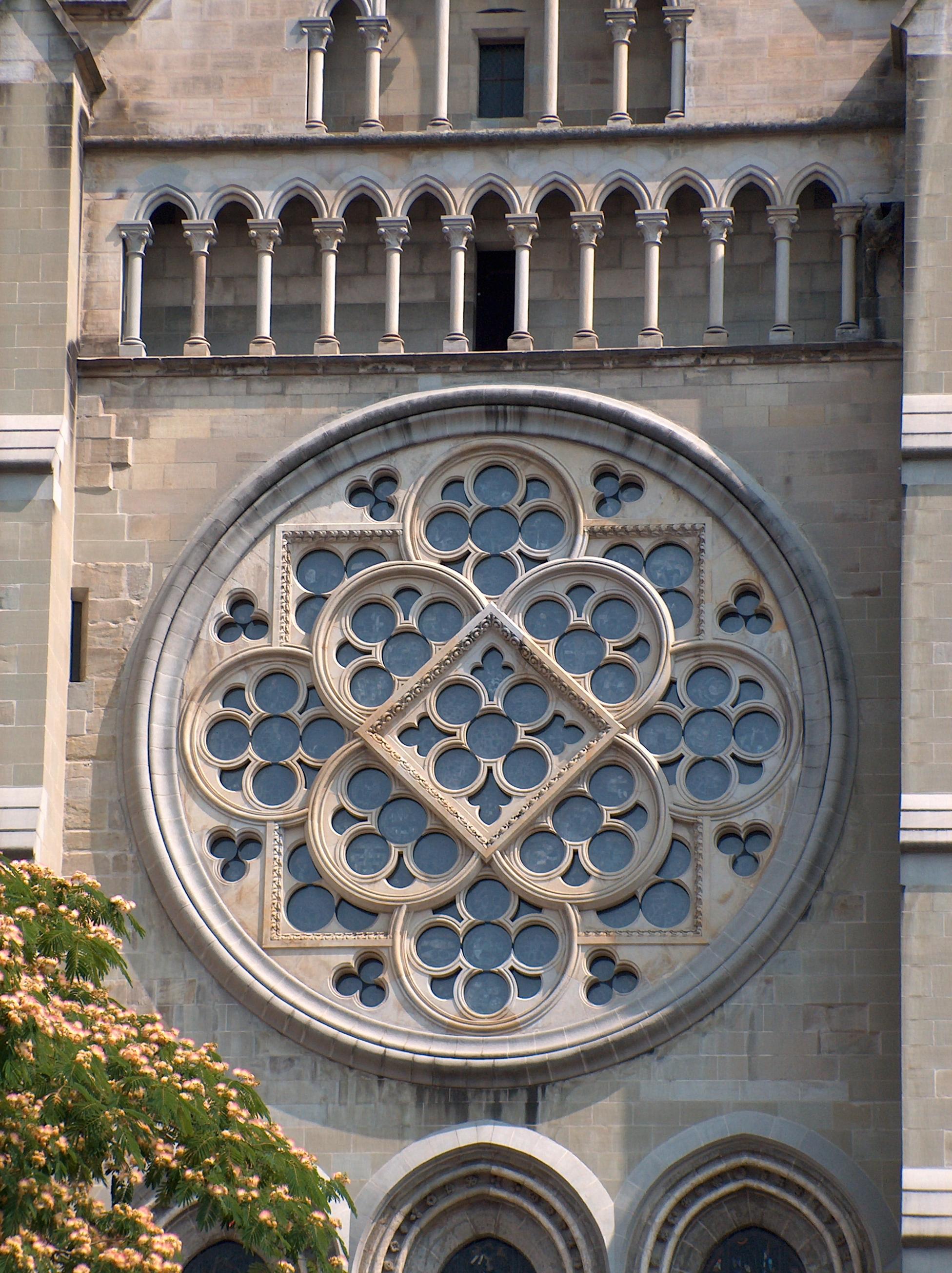 Datei:rosace Cathédrale Lausanne – Wikipedia avec Image De Rosace
