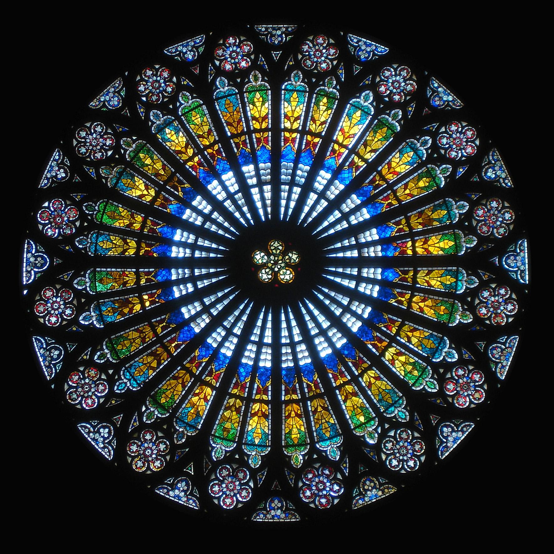 Datei:rosace Cathedrale Strasbourg – Wikipedia destiné Image De Rosace