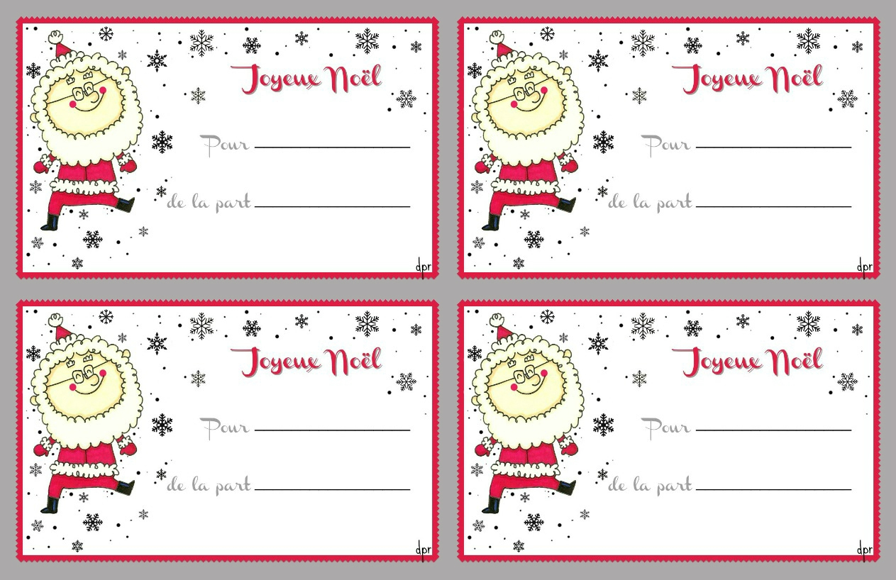 De Jolies Étiquettes( À Imprimer) - Des P'tits Riens concernant Etiquette Noel A Imprimer