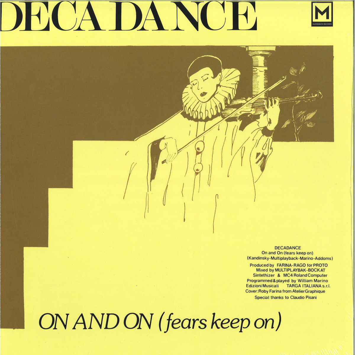 Decadance - On And On (Fears Keep On) / Mannequin Mnq055 - Vinyl avec Ateliers Graphiques Ps