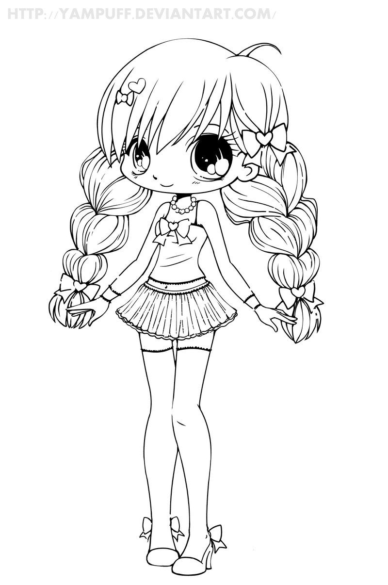 Decided To Put Some New Linearts Out There! I Can't Believe dedans Coloriage Manga Kawaii