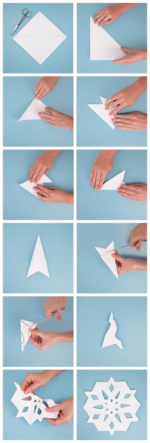 Déco Flocon De Neige Et Origami Flocon En Papier serapportantà Origami Bonhomme De Neige