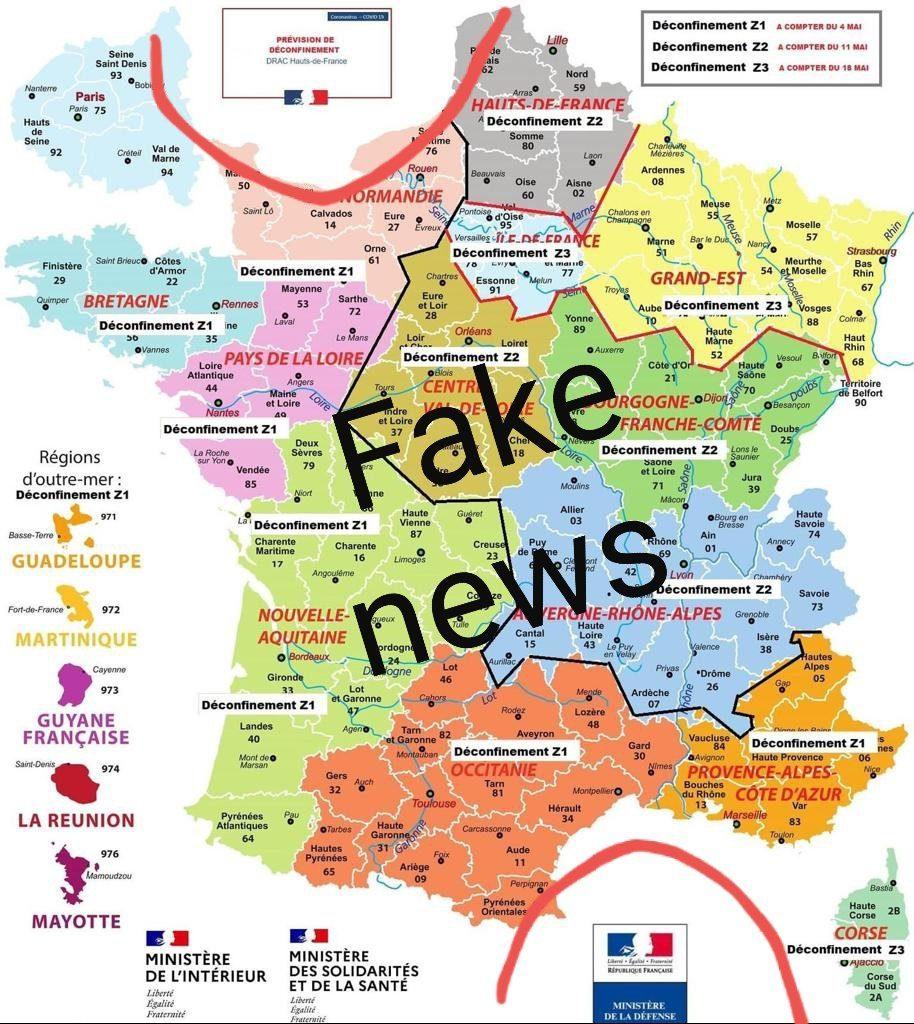 Déconfinement Progressif Covid 19 En France : Règles, Zone intérieur Carte De France Pour Les Enfants
