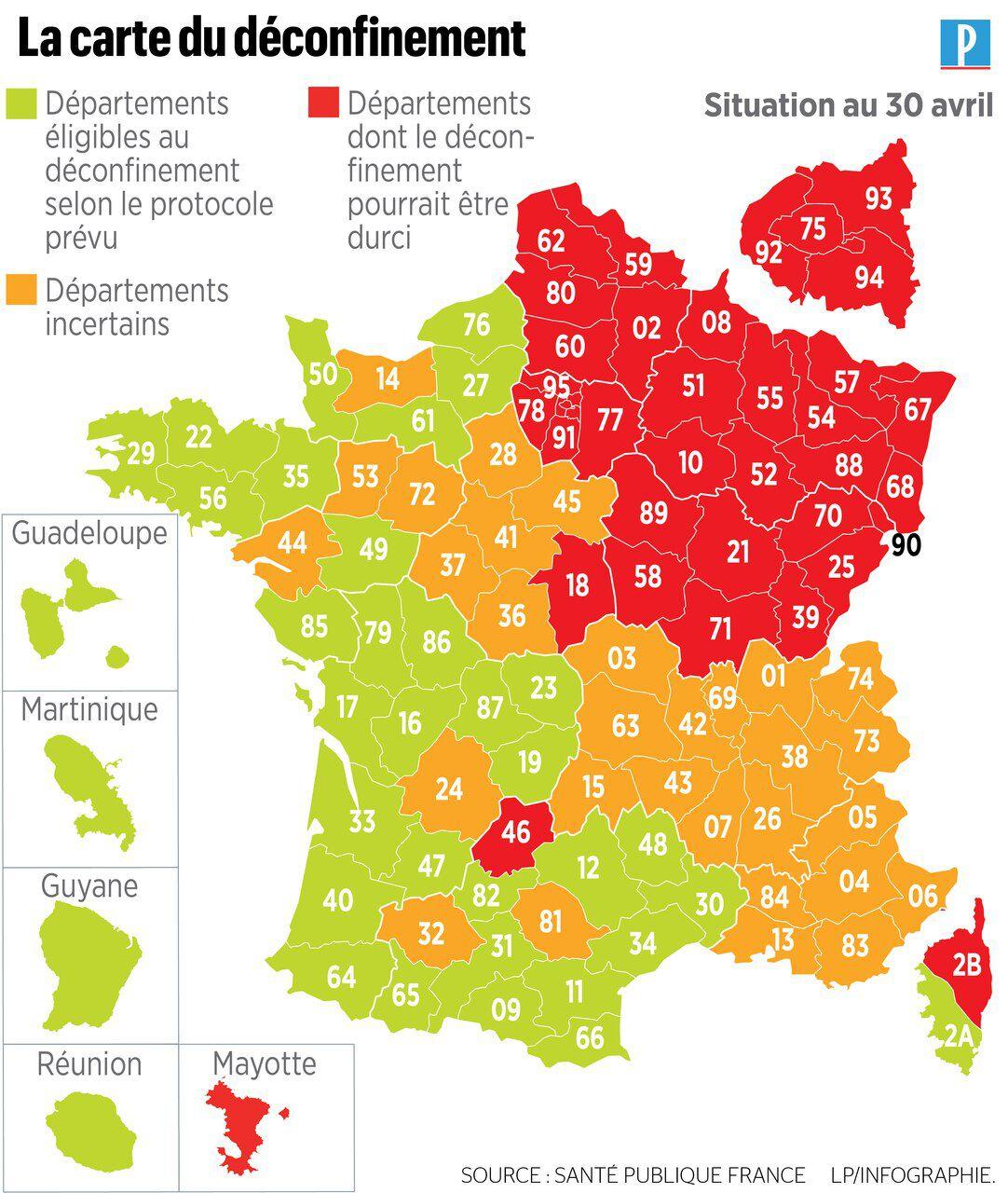 Déconfinement : Votre Département Est-Il En Vert, Orange Ou concernant Carte De France Pour Les Enfants
