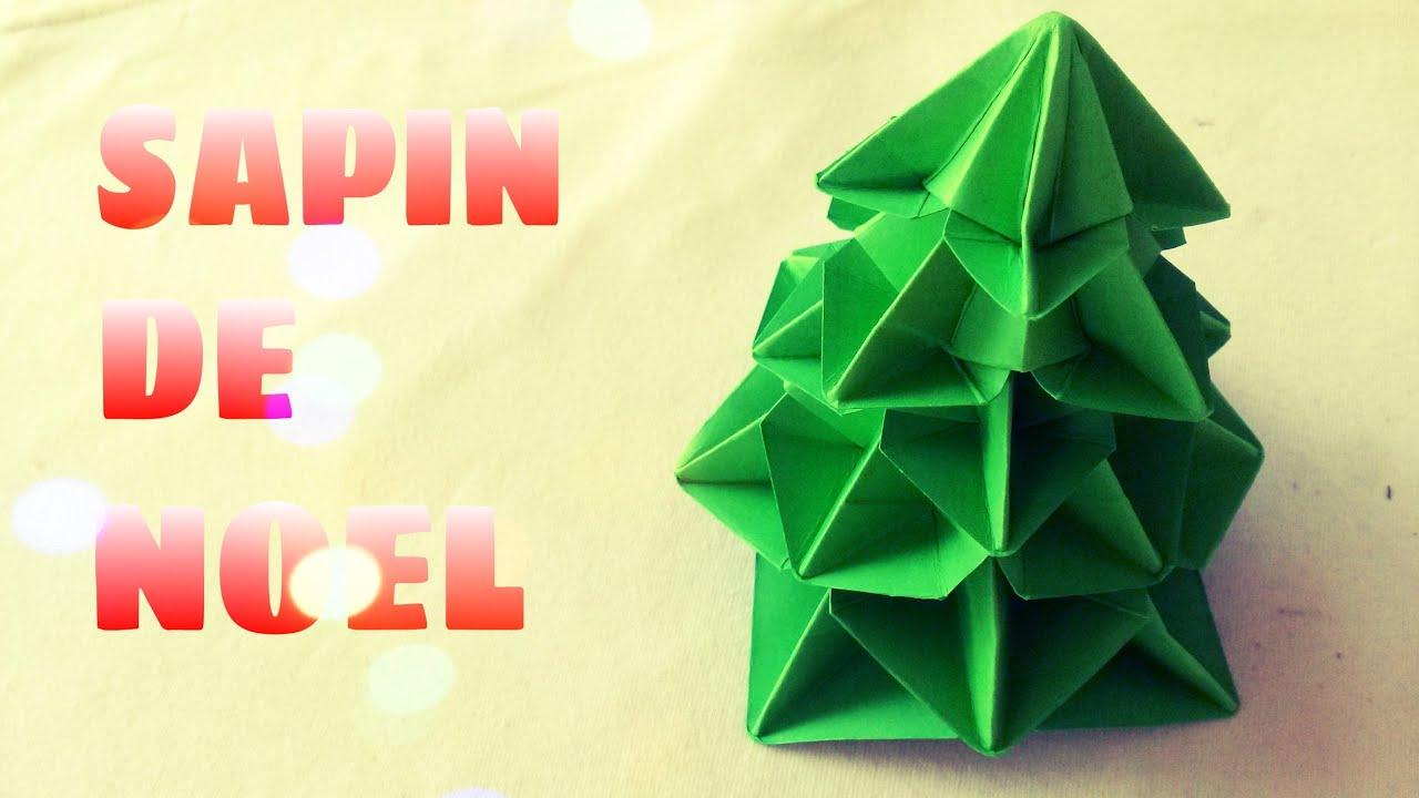 Décoration De Noël - Comment Faire Un Sapin De Noël En Origami tout Origami Sapin De Noel