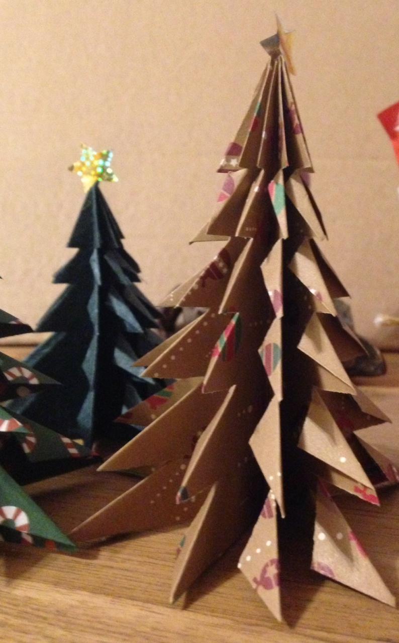 Décoration De Table De Noël: Pliage D'un Sapin En Origami à Origami Sapin De Noel