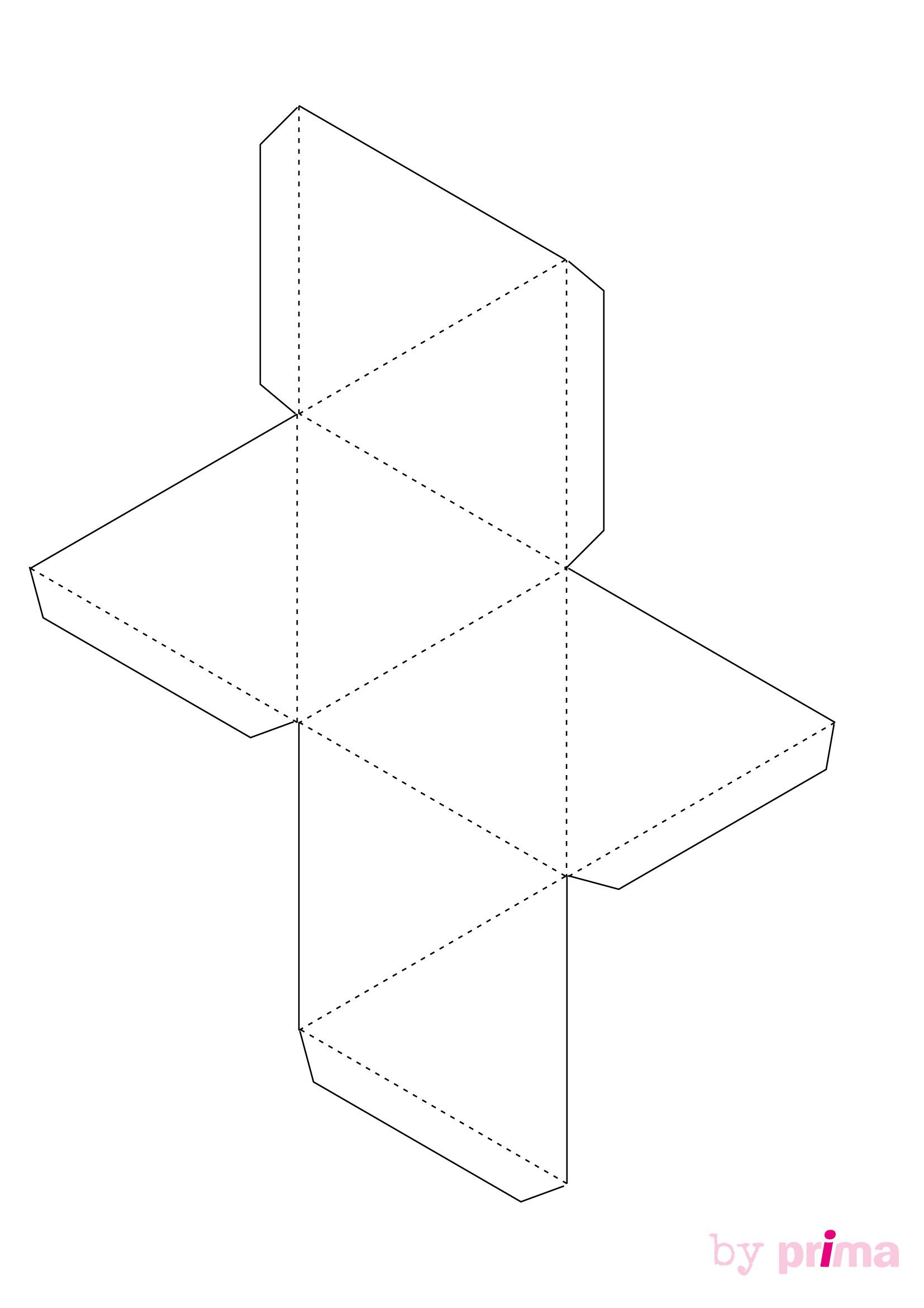 Décoration En Papier : Formes En 3D À Imprimer Gratuitement à Patron De Maison En Papier A Imprimer