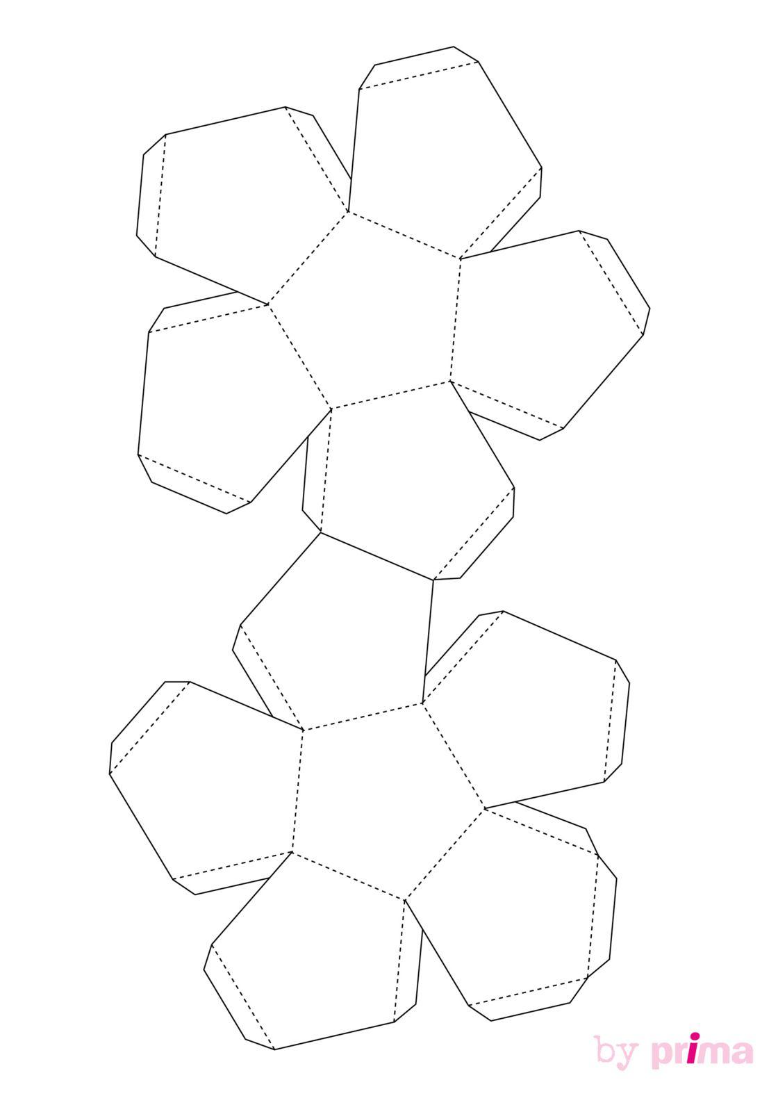 Décoration En Papier : Formes En 3D À Imprimer Gratuitement serapportantà Patron De Maison En Papier A Imprimer