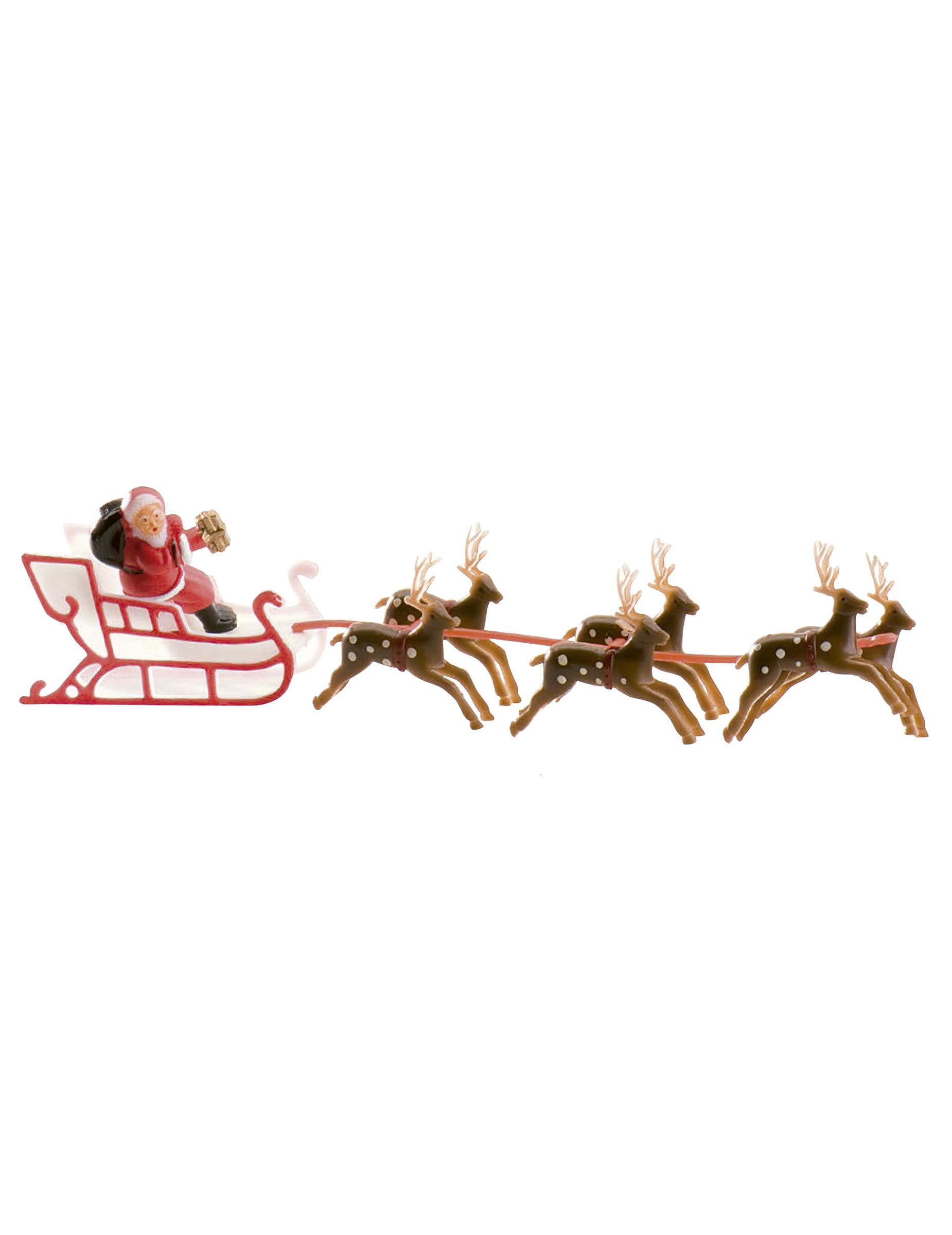 Décoration Gâteau Traîneau Du Père Noël 22 Cm avec Image De Traineau Du Pere Noel