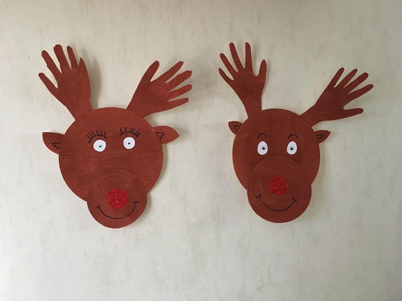 Décoration Rennes De Noël Avec Des Assiettes En Carton [Video] pour Bricolage De Noel Pour Maternelle