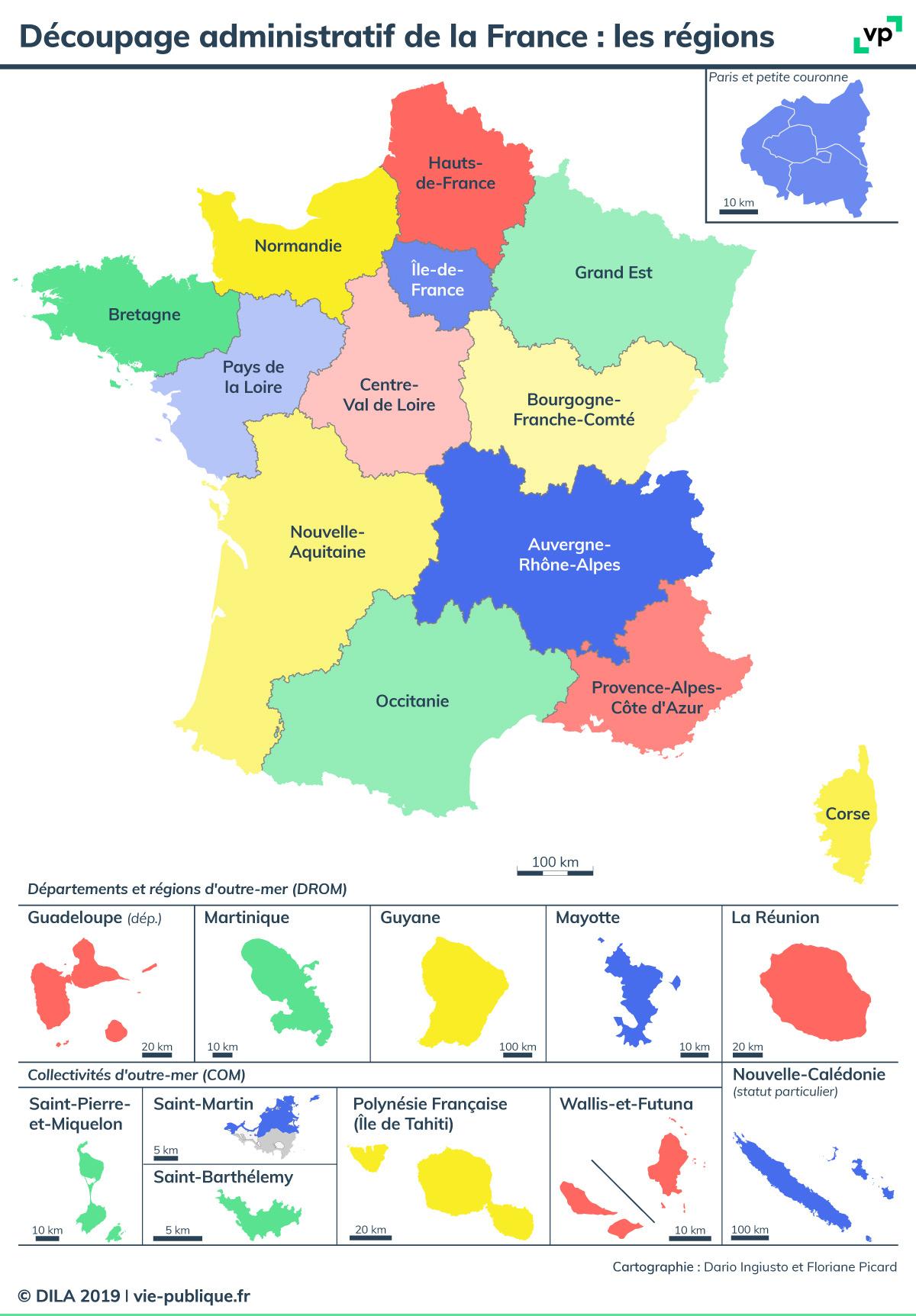 Découpage Administratif De La France : Les Régions | Vie intérieur Nouvelle Carte Des Régions De France