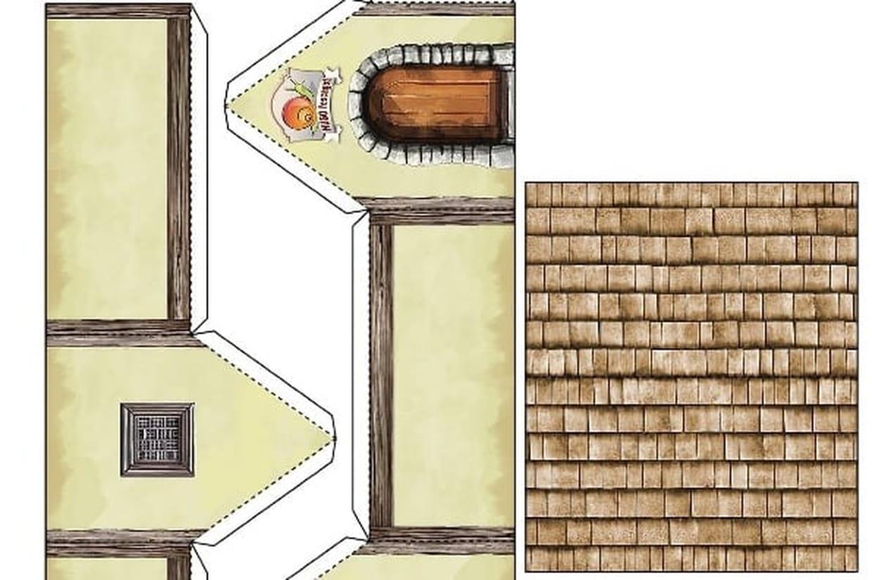 Découpage Château Fort à Patron De Maison En Papier A Imprimer