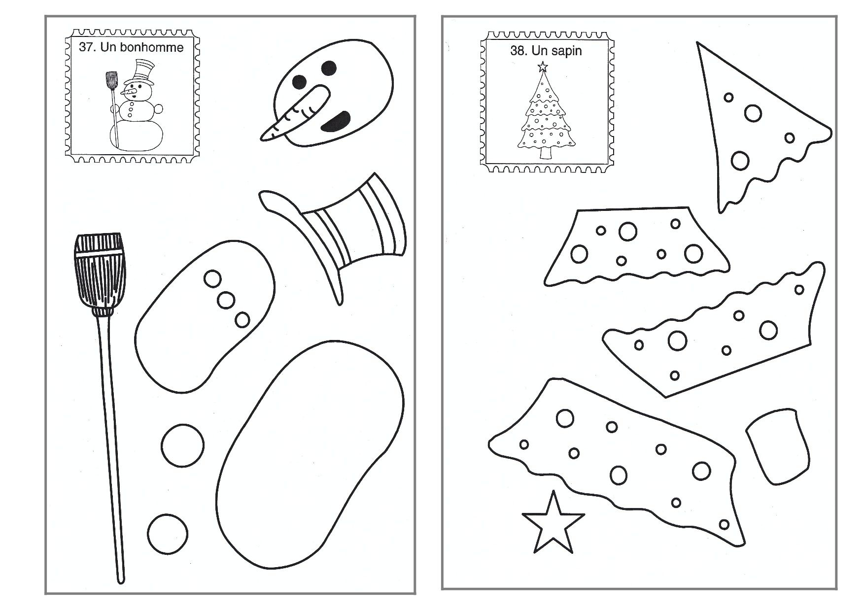 Découpage/collage De Noël (Avec Images) | Animation Noel intérieur Découpage Collage Maternelle À Imprimer