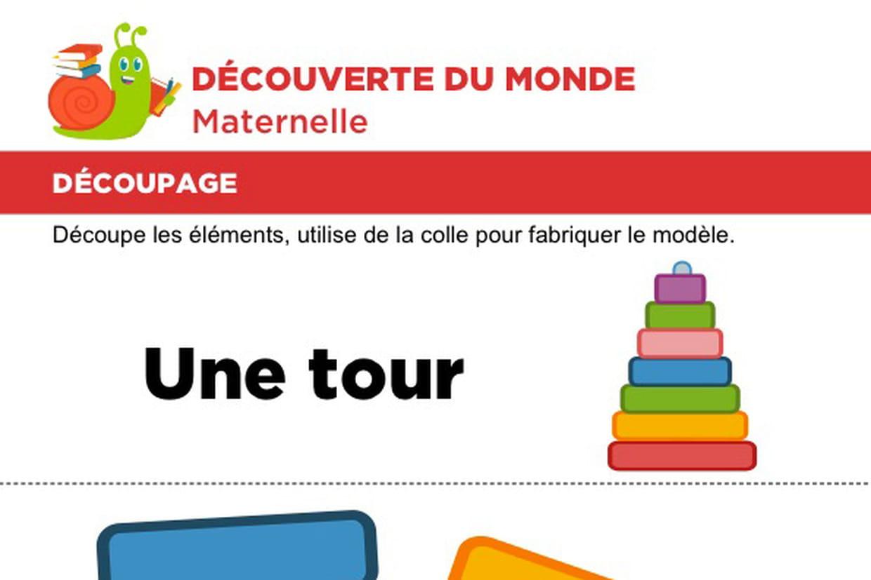 Découpage Et Collage D'une Tour serapportantà Découpage Collage Maternelle À Imprimer