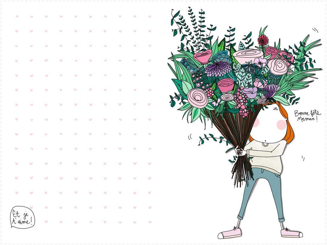 Découvrez Cette Jolie Carte Fête Des Mères À Imprimer encequiconcerne Carte Bonne Fete Maman A Imprimer