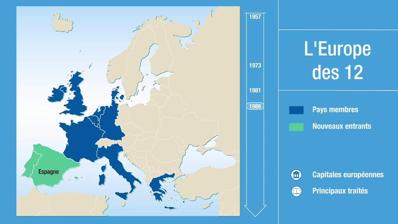 Décryptage : De L'europe Des Six Au Brexit En Carte serapportantà Carte Europe Capitale
