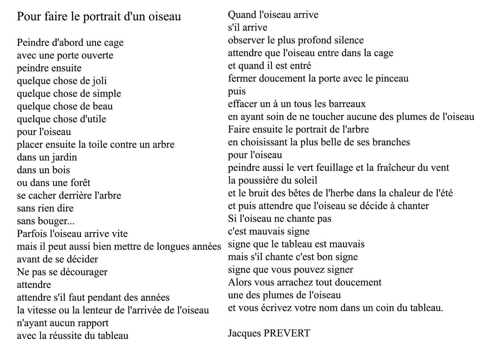 Défi 170 : Prévert À La Mode Des Croqueurs De Mots - Quai intérieur Poeme De Jacque Prevert