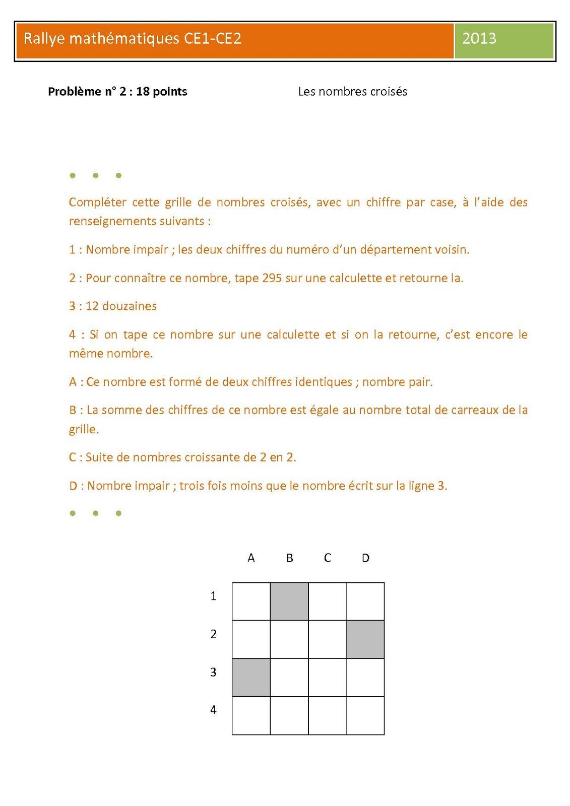 Défi Mathématiques De La Circonscription De Bagnols Sur Cèze avec Nombres Pairs Et Impairs Ce2