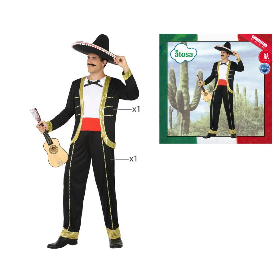 *déguisement Mexicain Mariachi Homme intérieur Musicien Mexicain