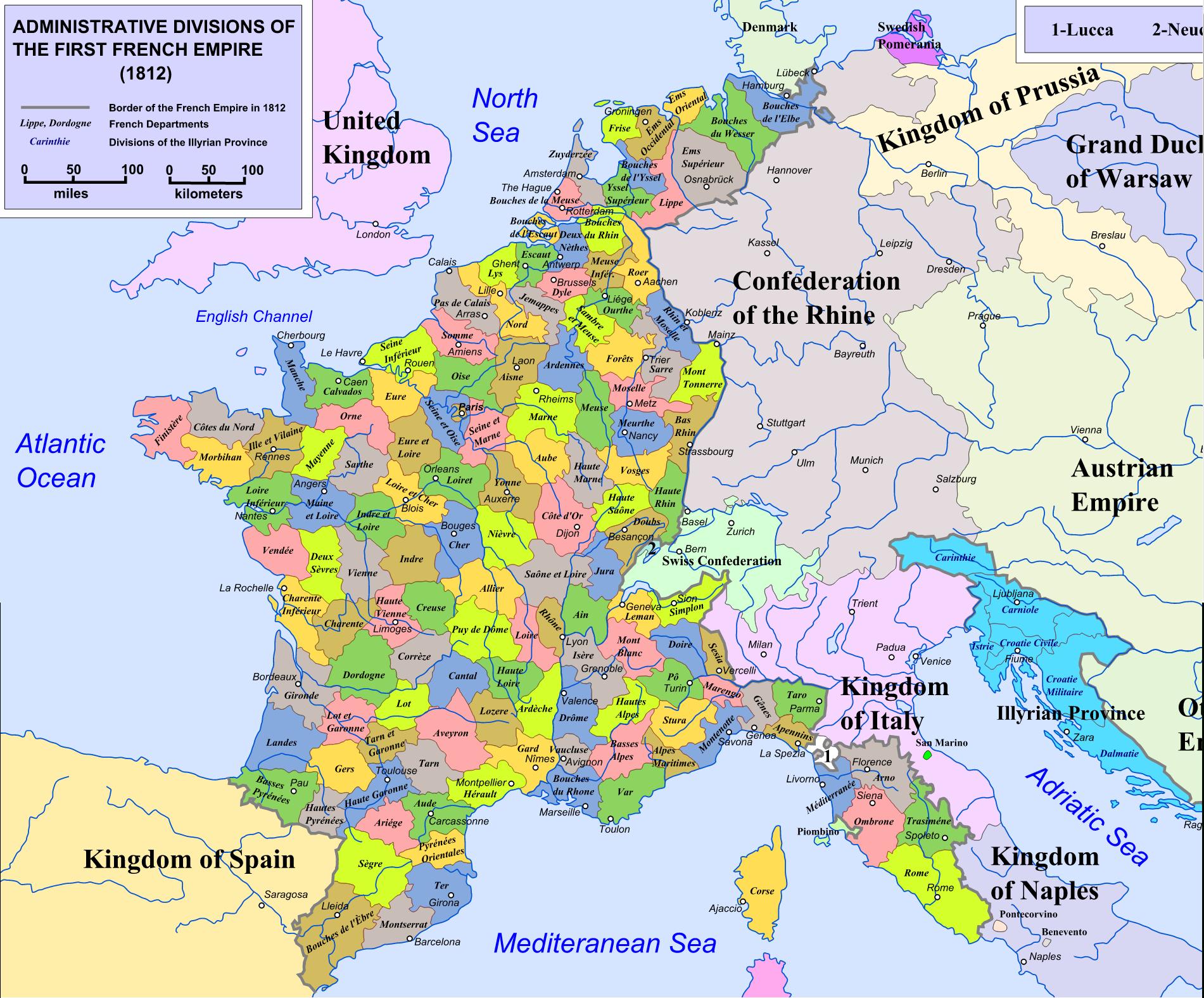 Départements Depuis 1790 tout Carte Numero Departement