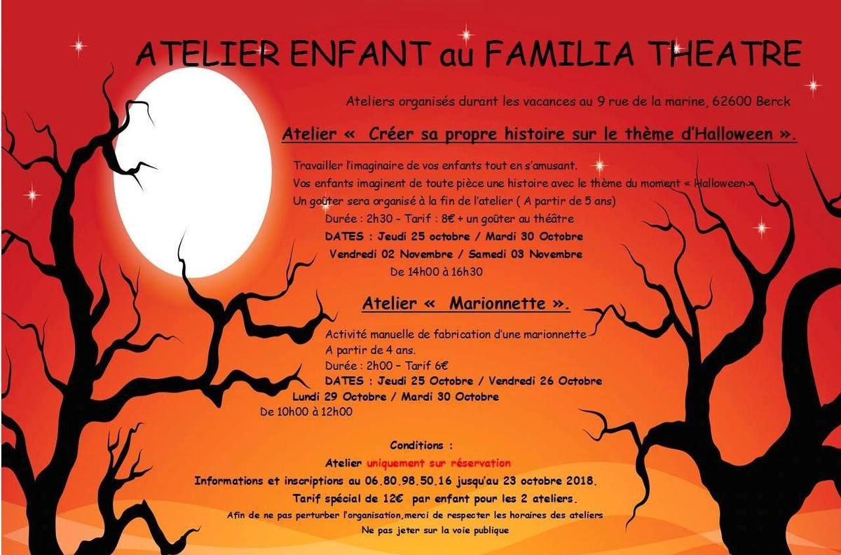 Des Ateliers Pour Les Enfantssur Halloween intérieur Poésie Vive Les Vacances
