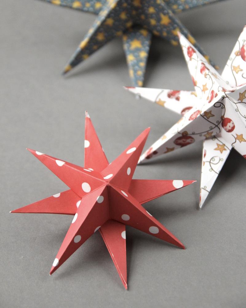 Des Décorations En Origami Diy Pour Le Sapin | Shake My Blog concernant Origami Sapin De Noel