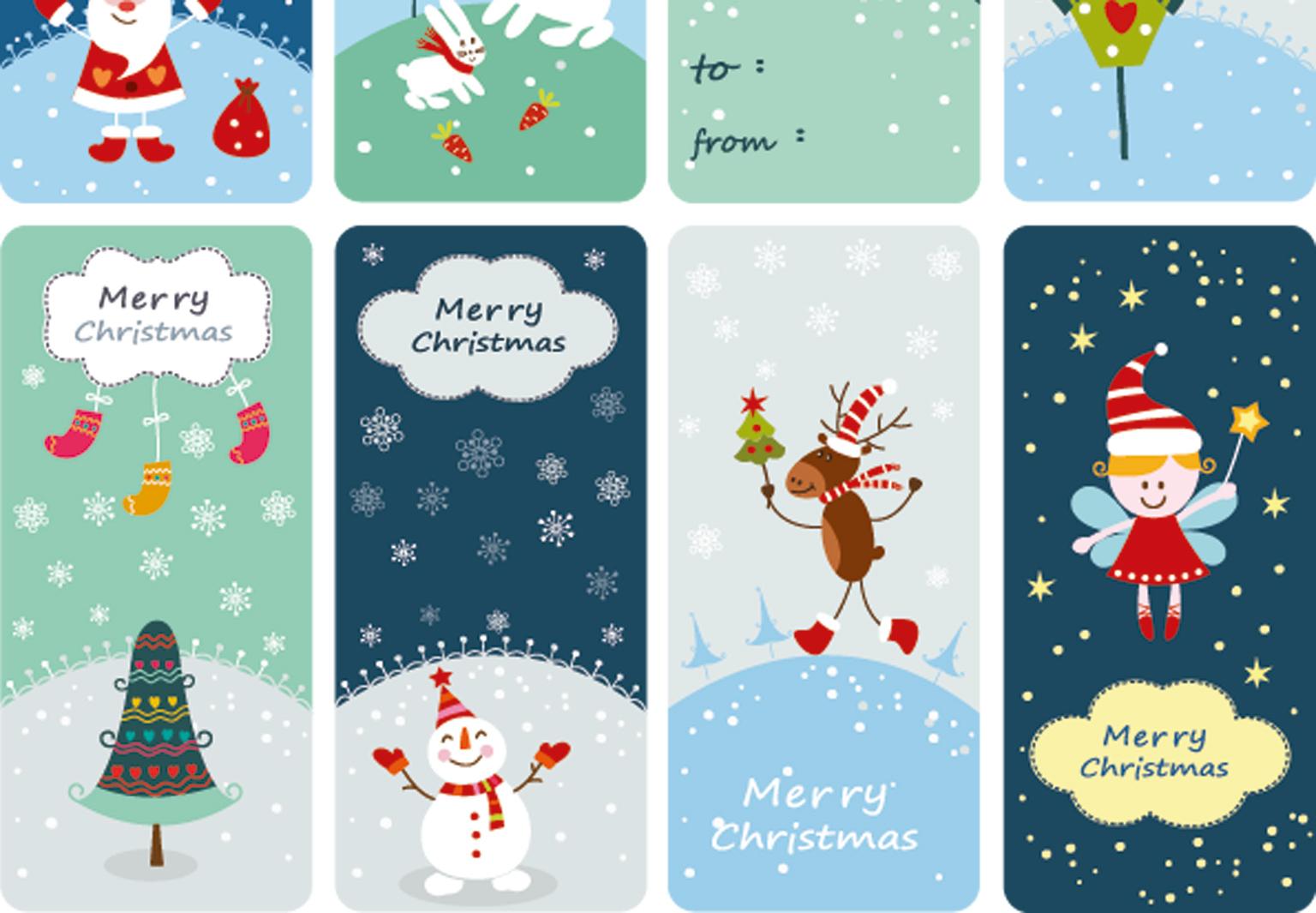 Des Étiquettes De Noël À Imprimer - Femme Actuelle concernant Etiquette Noel A Imprimer