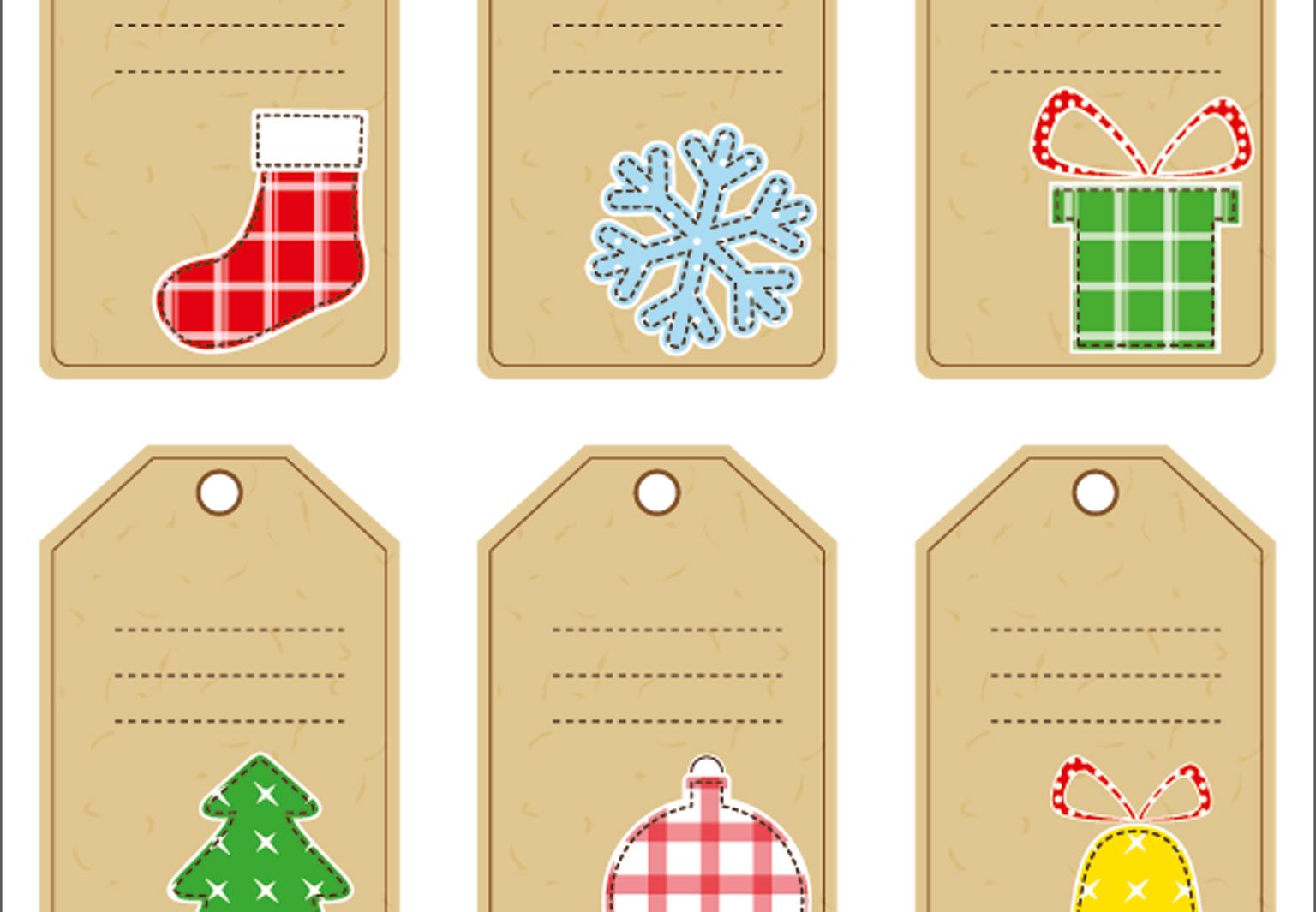 Des Étiquettes De Noël À Imprimer - Femme Actuelle serapportantà Etiquette Noel A Imprimer