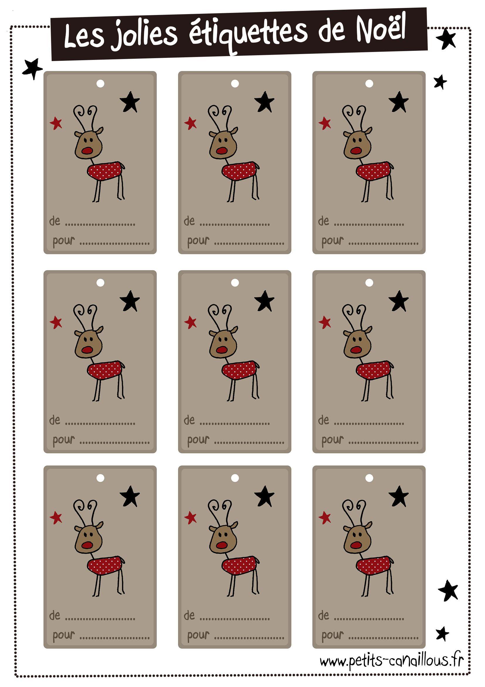 Des Étiquettes De Noël – Petits Canaillous | Etiquettes Noel intérieur Etiquette Noel A Imprimer