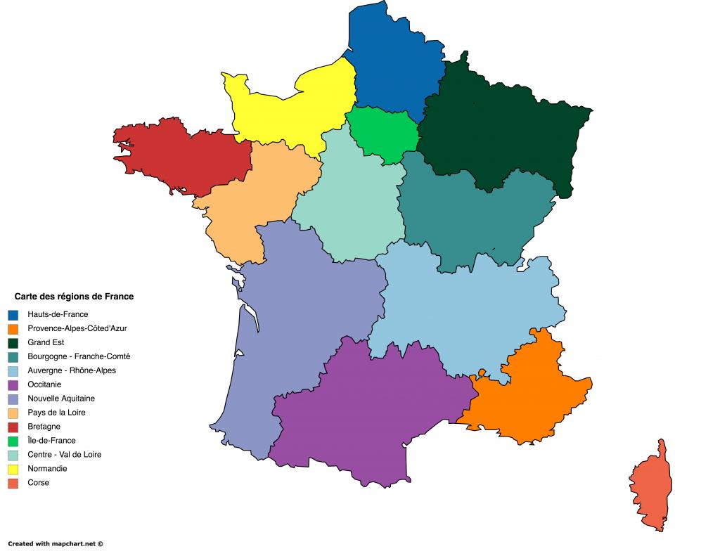 Des Fonds De Carte Gratuits Personnalisables En Ligne avec Nouvelle Carte Des Régions De France