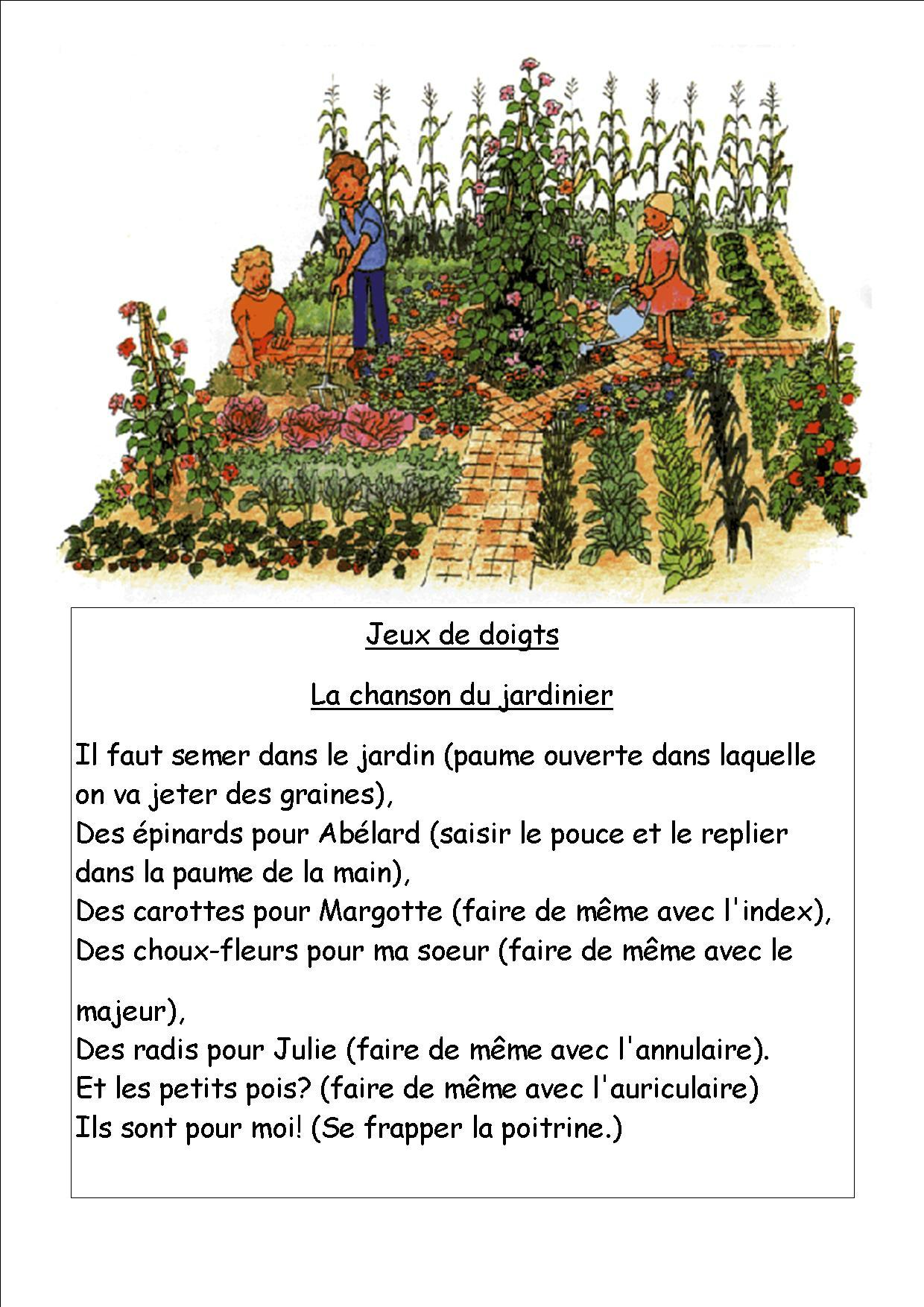 Des Poésies : Le Jardin, Des Fleurs Et Des Légumes - La encequiconcerne Chanson Sur Les Fruits Et Légumes