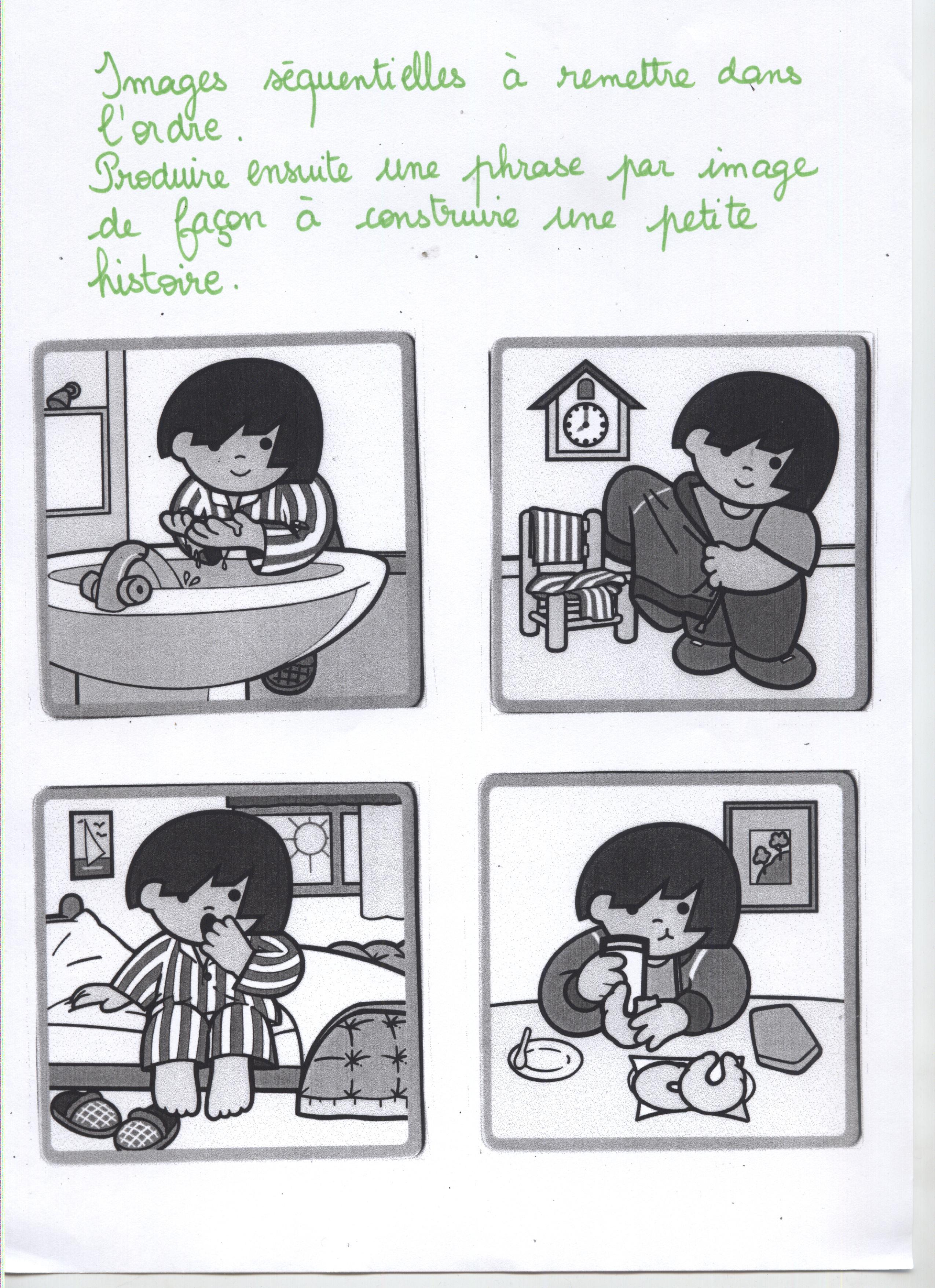 Des Situations D'écriture En Élémre - Circonscription destiné Images Séquentielles Maternelle