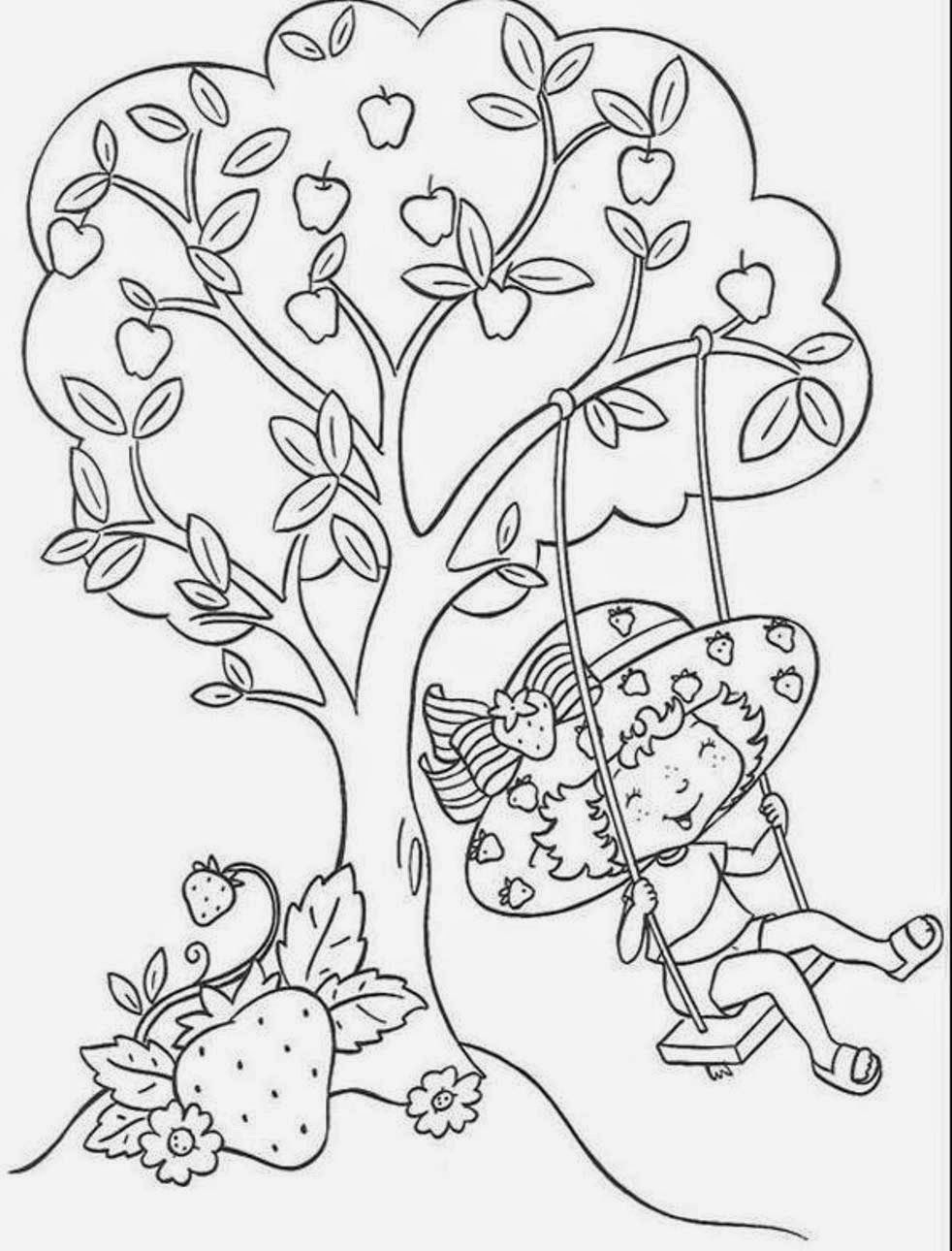 Desenhos De Moranguinho E Sua Turma Para Colorir, Pintar tout Coloriage Charlotte Aux Fraises Et Ses Amies