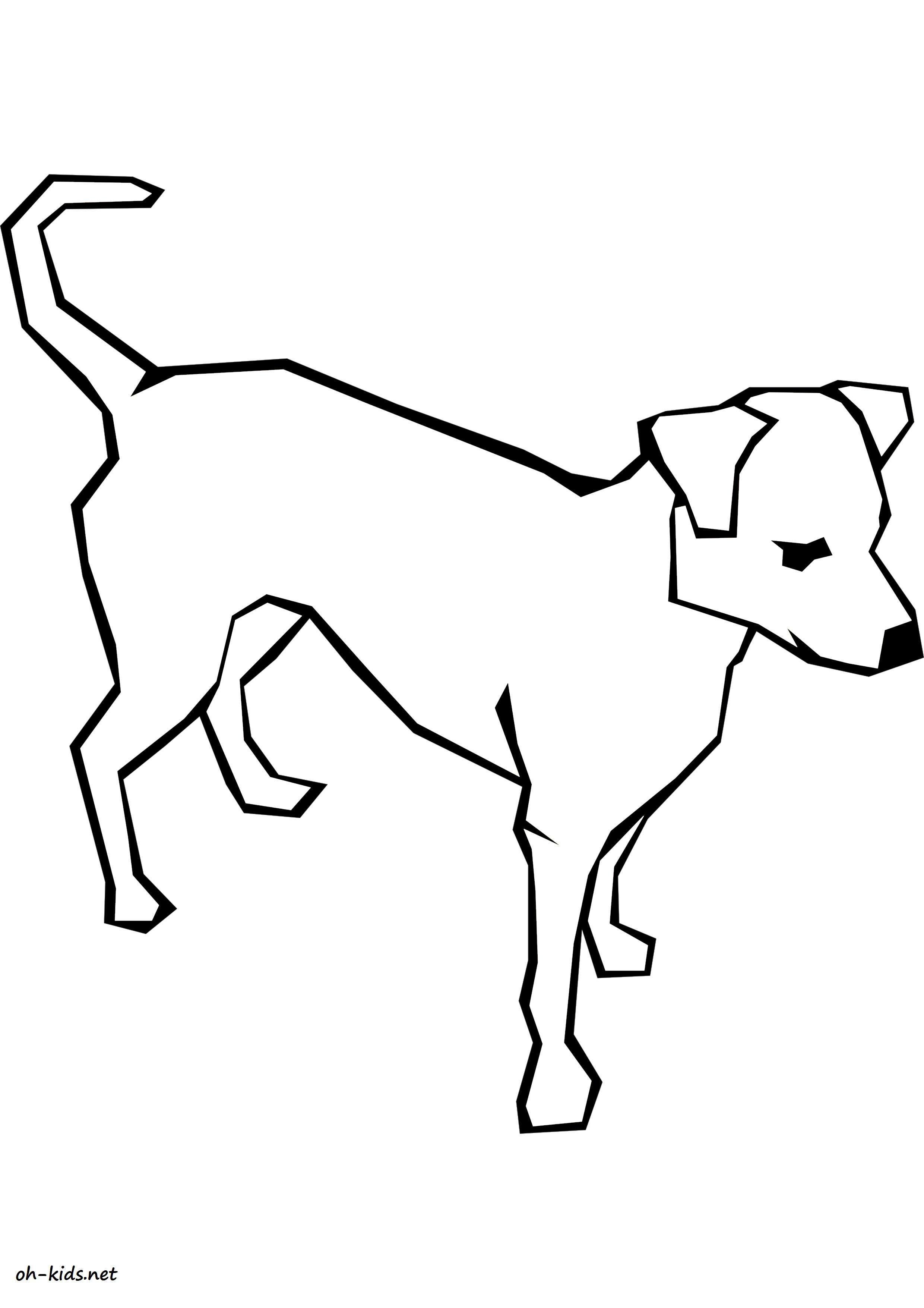 Dessin #1107 - Coloriage Labrador À Imprimer - Oh-Kids pour Coloriage Labrador