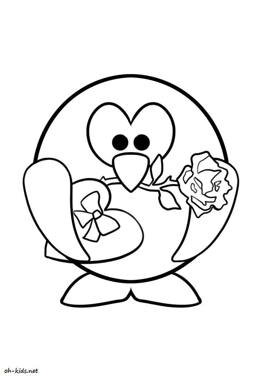Dessin #269 - Coloriage Saint-Valentin À Imprimer - Oh-Kids à Dessin Pour La Saint Valentin