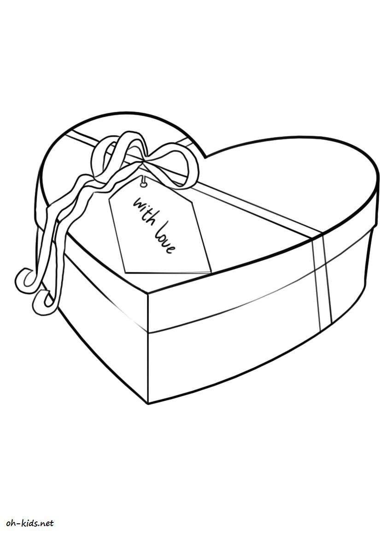 Dessin #270 - Coloriage Saint-Valentin À Imprimer - Oh-Kids à Dessin Pour La Saint Valentin