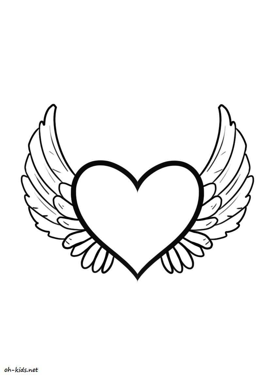 Dessin #275 - Coloriage Saint-Valentin À Imprimer - Oh-Kids pour Dessin Pour La Saint Valentin