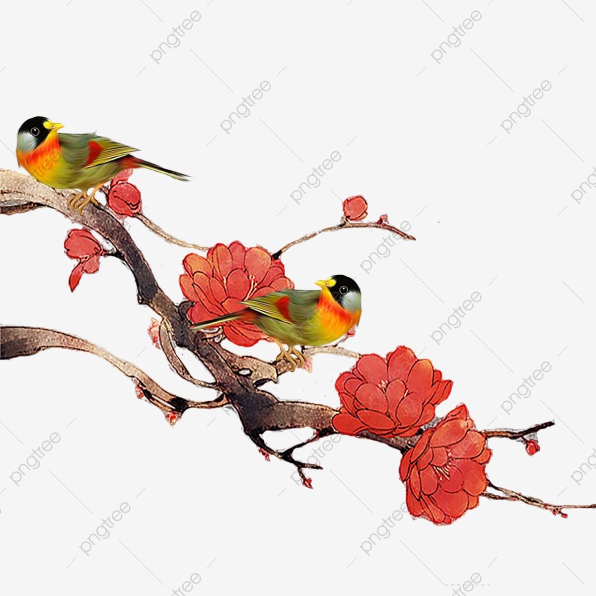 Dessin Animé Oiseau Fleurs Rouges Dessin Animé Oiseau avec Images D Oiseaux Gratuites
